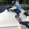 Newburyport: Jack Reeves, 13, rides the wall at the Newburyport Skate Park Saturday afternoon. Jim Vaiknoras/staff photo