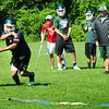 BRYAN EATON/Staff Photo. Pentucket High football defensive back practice yesterday morning.
