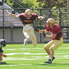 JIM VAIKNORAS/Staff photo Newburyport's #3 running against Wilmington in a scrimmage at World War Memorial Stadium.