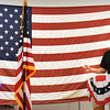 BRYAN EATON/Staff photo. Don Jarvis welcomes attendees to the Veteran's Lunch held at Firefighter's Memorial Hall in Newbury.