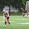 BRYAN EATON/Staff photo. Newburyport High field hockey team practice their shooting skills.