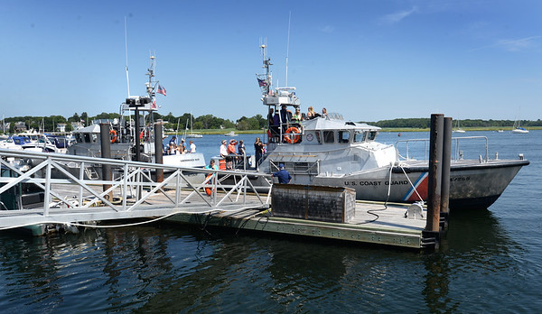 BRYAN EATON/Staff photo. Both 47' motor lifeboats were available for tours at the U.S. Coast Guard Station Merrimack open house.