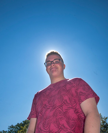 JIM VAIKNORAS/Staff photo 	Cameron Cassidy, 14, is going to Atlanta to see the total solar eclipse with his dad on August 21.