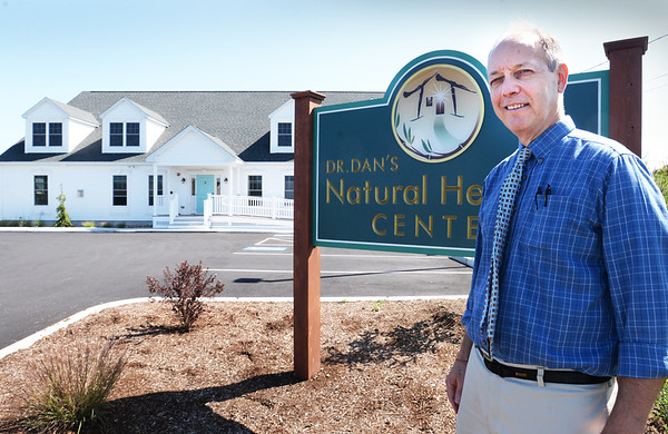 BRYAN EATON/Staff photo. Dr. Dan Eyink has moved into his new office space on New Pasture Road in Newburyport.