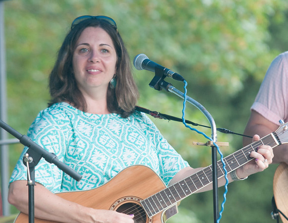 JIM VAIKNORAS/Staff photo The Stacey Peasley Band performs during Family Day at Maudslay Saturday morning.