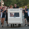 JIM VAIKNORAS/Staff photo Cataldo EMS built an ambulance bed for the Lions Club Bed Race on Federal Street in Newburyport Thursday night.