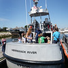 BRYAN EATON/Staff photo. Hundreds of people showed up for tours at the U.S. Coast Guard Station Merrimack's open house.