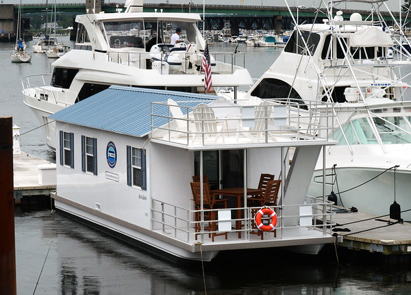 BRYAN EATON/Staff photo. House boat for rent on Newburyport's waterfront.