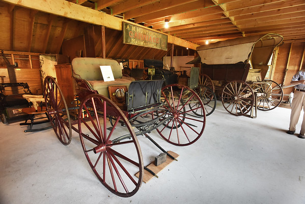 BRYAN EATON/Staff photo. An End-Spring Corning Carriage circa 1890 made by Charles Rowell and Son in Amesbury.