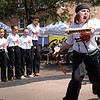 BRYAN EATON/Staff photo. Members of the Dojo Dem Team from Tokyo Joes in Salisbury performed in Market Square.