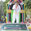JIM VAIKNORAS/Staff photo Josef Nocera channels his inner Elvis in this year's Yankee Homecoming  parade Sunday on High Street.