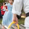 AMANDA SABGA/Staff photo<br /> <br /> Elena Cornelio, 5, of Salem runs karate drills with 5 Dragons Martial Arts Academy during Yankee Homecoming's Family Day at Maudslay State Park in Newburyport.<br /> <br /> 8/3/19