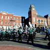 JIM VAIKNORAS/Staff photo The Pentucket High School Marching Band performs as it marches in the Annual Merrimac Santa Parade.