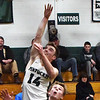BRYAN EATON/Staff photo. Gus Flaherty attempts two points in the second quarter.