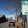 BRYAN EATON/Staff photo. New parking signs with a two hour limit have been installed in areas just outside Newburyport's immediate downtown area like here, on Fair Street. There had been no parking limits before; also new signs have been installed reminding motorists that it's illegal to park within 20 feet of an intersection.