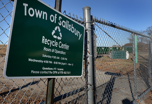 BRYAN EATON/Staff photo. Salisbury's recycling center at the capped landfill on Old County Road.