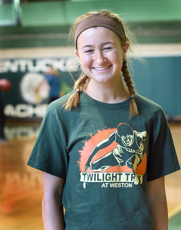 BRYAN EATON/Staff photo. Pentucket High School's Madi Krohto is one of the best track athletes in the state.