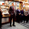 BRYAN EATON/Staff photo. Mass. Economic Affairs Secretary Jay Ash speaks at a ceremony touting the housing project One Boston Way by developer Louis Minicucci, to the right of Ash, at Metzy's Cantina on Monday morning. The project, adjacent to the MBTA train station in Newburyport, is the first Smart Growth development in Newburyport with 76 rental units, including 19 that are affordable.