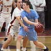 BRYAN EATON/Staff photo. Newburyport's Max Gagnon covers Triton's TJ Overbaugh.