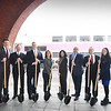 BRYAN EATON/Staff photo. Posing for a ceremonial photo lauding the residential development One Boston Way are, from left, Mass. Economic Affairs Secretary Jay Ash; Scott Bosworth of MassDOT; state Rep. James Kelcourse; Lt. Governor Karyn Polito; Newburyport Mayor Donna Holaday; developer Louis Minicucci of Minco; state Rep. Lenny Mirra and state Sen. Diana DiZoglio.