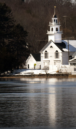 BRYAN EATON/Staff photo. Union Congregational Church on Amesbury's Point Shore.