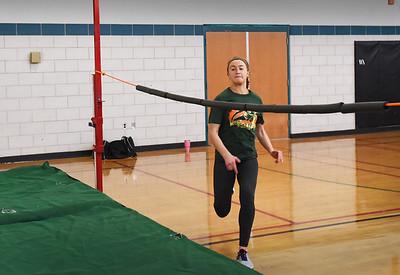 BRYAN EATON/Staff photo. Madi Krohto in practice at Pentucket High School.