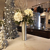 BRYAN EATON/Staff photo. Brenda Geerlilngs likes silver and white as holiday accents, here in the kitchen.