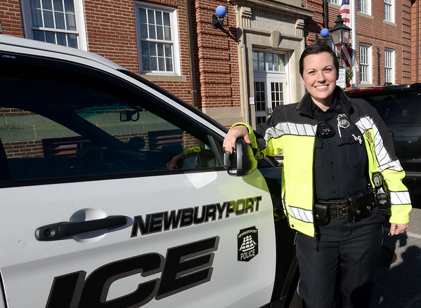 BRYAN EATON/Staff photo. School Resource Officer Megan Tierney went back to work full-time last week after being diagnosed with triple negative breast cancer earlier in 2018.