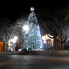 JIM VAIKNORAS/Staff photo The lights from the Amesbury Christmas Tree gives a silvery glow to Market Square Friday night. Downtown will be in full holiday style this weekend as Amesbury will be holding it's Winterfest featuring ice skating, carolers, Santa, horse draw carriage ride, and much more.