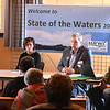 "JIM VAIKNORAS/Staff photo EPA representatives Todd Burci, Alexandra Dichter, Sean Dixon and Ted Lavery host a panel at ""State of the Waters"" at the Parker River Wildlife Refuse headquarters Friday."