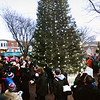 BRYAN EATON/Staff photo. The Amesbury Christmas Tree is lit by Santa Claus after his parade in downtown Amesbury on Saturday afternoon.