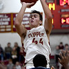 JIM VAIKNORAS/Staff photo Newburyport's Parker McLaren shoots against New Mission at Newburyport Friday night.