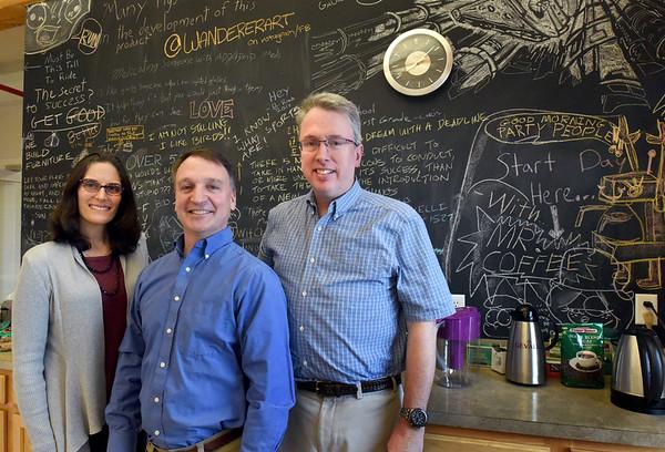 BRYAN EATON/Staff photo. Inventive Labs' Amy Hage, Tom Bergeron and Rick Fiery.