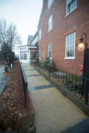 JIM VAIKNORAS/Staff photo Ramp and entranceway to Brick and Ash on Center Street in Newburyport.