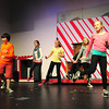 "Newbury: Dancing to ""Mister Santa"" in the tune of ""Mister Sandman"" as the Theatre Workshop rehearses at Newbury Elementary School. Bryan Eaton/Staff Photo"