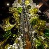 BRYAN EATON/ Staff Photo. Christmas lights fill the empty bottles of wine.