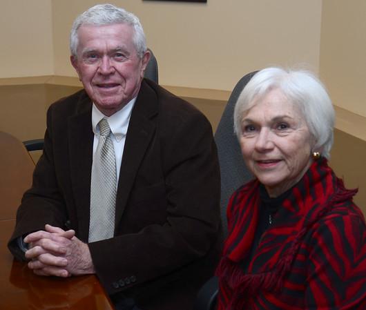 JIM VAIKNORAS/Staff photo Bob Murray and Ann McCaffey of the Horizon Club.