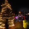 JIM VAIKNORAS/Staff photo Revelers sing carols at the West Newbury Tree lighting.