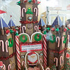 JIM VAIKNORAS/Staff photo  Gingerbread Castle being raffled off at Andyman's Bakery in Amesbury to benefit Lucy's Love Bus.