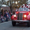 JIM VAIKNORAS/Staff photo Santa and Mrs. Claus arrive at the Amesbury Santa Parade and Tree Lighting in Market Square Saturday.