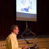 "JIM VAIKNORAS/Staff photo Mike Morris of Newburyport based Storm Surge presents ""The Next Big Storm: Preparing Newburyport for Extreme Weather"" at Newburyport City Hall Thursday night."