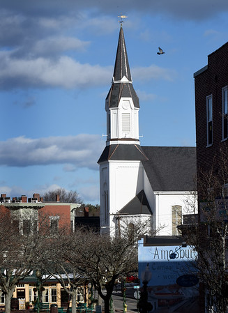 BRYAN EATON/Staff photo. Market Street Baptist Church in downtown Amesbury.