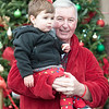 "JIM VAIKNORAS/Staff photo Calvin ""Butchie"" Corcoran and his grandfather Barry Burrows of Boxford wore their pj's as they got ready to board the Polar Express at the MBTA station in Newburyport Saturday morning. Over 3500 passengers rode the train sponsored by the Immaculate Conception in it's 17th year."