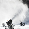 BRYAN EATON/Staff photo. Sean Sargent tends to the snow guns at Amesbury Sports Park where snowmaking is well underway with the frigid temperatures in place. The plan is to open for tubing during school vacation, or sooner, depending on the weather.