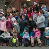 JIM VAIKNORAS/Staff photo THe crowd waits for Santa at the Amesbury Santa Parade and Tree Lighting in Market Square Saturday.