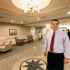 BRYAN EATON/Staff photo. Vice president of operations for the Whittier Health Network, Michael Arcidi, in the lobby of the new Port Healthcare facility.