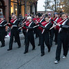 JIM VAIKNORAS/Staff photo The Amesbury High School Band performs during the Amesbury Santa Parade and Tree Lighting in Market Square Saturday.