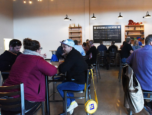 BRYAN EATON/Staff photo. Riverwalk Brewing Company opened their taproom to the public on Wednesday in their new space on Parker Street in Newburyport.