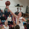 JIM VAIKNORAS/Staff photo Newburyport's  Krysta Padellaro scores against North Reading at Newburyport High Friday night.