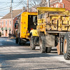JIM VAIKNORAS/Staff photo Traffic was detoured around part of Water Street near the Tannery in Newburyport , as city workers repaired a broken water main.